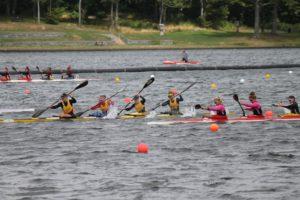 Cheema athletes eye the finish line on Lake Banook (Healey photo)